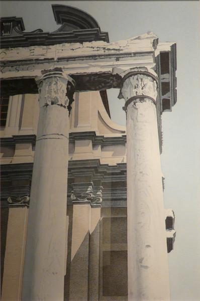 """""""Basilik und Tempel"""", Forum Romanum"""