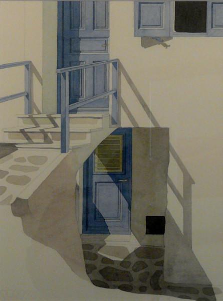 Spiel der Schatten, Mykonos 49 x 31 cm