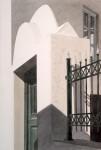 Eingang mit Gitter, Mykonos 87 x 64,5 cm, Tusche-Punkttechnik und Aquarell
