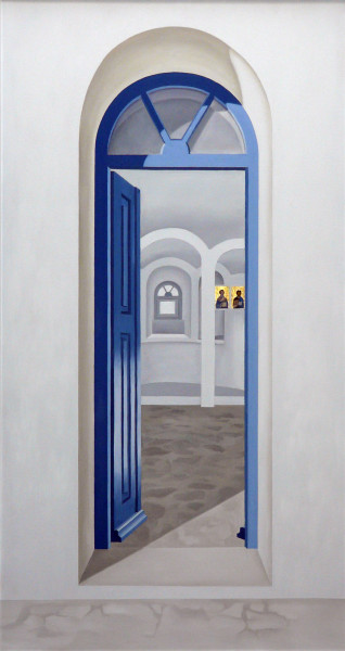 Porta Vitae, Mykonos Ölbild 128 x 68 cm