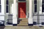 Londoner Hauseingang 89 x 65 cm, Tusche-Punkttechnik und Aquarell+