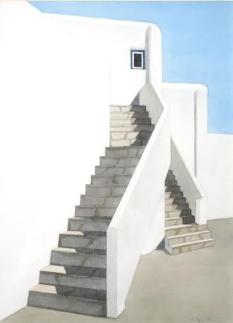 Bild: Treppe ins Blau