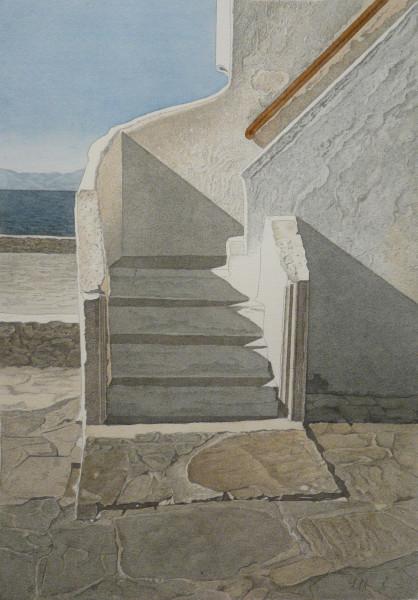 Hausaufgang, Mykonos