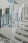 verwinkelter Hausaufgang, Mykonos
