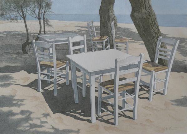 Einsamer Ruheplatz am Meer, Mykonos