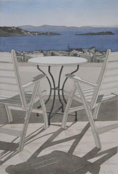 Terrassenplatz, Mykonos