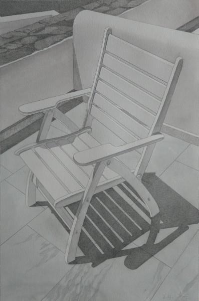 Der verlassene Stuhl, Mykonos